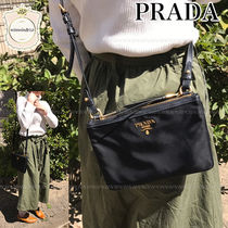 PRADA Plain Leather Elegant Style Crossbody Shoulder Bags