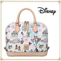 Disney Casual Style 2WAY Leather Elegant Style Shoulder Bags
