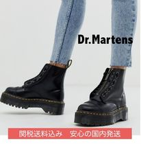 Dr Martens SINCLAIR Platform Round Toe Lace-up Casual Style Street Style Leather