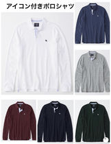 Abercrombie & Fitch Long Sleeves Plain Polos