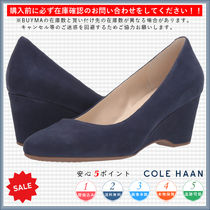Cole Haan Round Toe Casual Style Plain Wedge Pumps & Mules