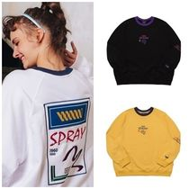 WV PROJECT Crew Neck Unisex Street Style Long Sleeves Cotton Medium