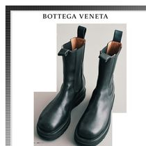 BOTTEGA VENETA Plain Leather Chelsea Boots Chelsea Boots