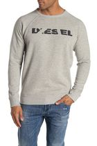 DIESEL Crew Neck Pullovers Street Style Long Sleeves Plain Cotton