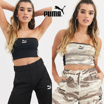 PUMA Short Camouflage Street Style Plain Cotton Cropped