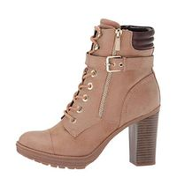 Guess Round Toe Casual Style Plain Block Heels High Heel Boots