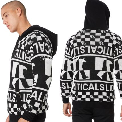 Logo Surf Style Pullovers Long Sleeves Sweaters