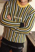 TCSS Pullovers Stripes Long Sleeves Logo Surf Style Sweaters