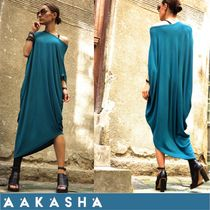 Aakasha Blended Fabrics Cropped Plain Cotton Long Short Sleeves