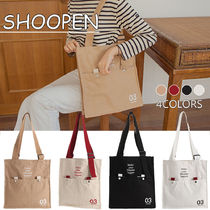 SHOOPEN Casual Style Unisex Canvas Blended Fabrics Street Style A4
