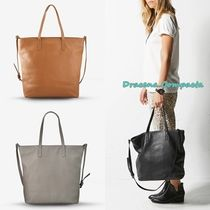 STATUS ANXIETY 2WAY Plain Leather Totes