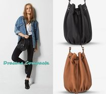 STATUS ANXIETY Casual Style Street Style Plain Leather Purses Shoulder Bags