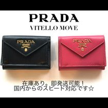 PRADA Calfskin Saffiano Folding Wallets