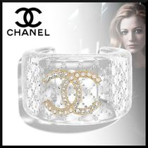 CHANEL Bangles Blended Fabrics Street Style Party Style With Jewels