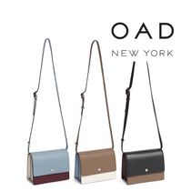 OAD NEW YORK Casual Style Bi-color Leather Shoulder Bags