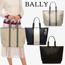 BALLY Casual Style Plain Totes