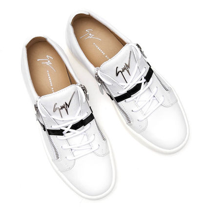 Leather Logo Sneakers