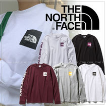 THE NORTH FACE Long Sleeves Plain Cotton T-Shirts