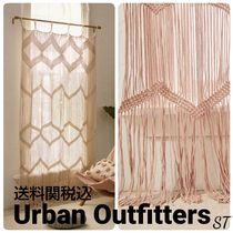 Urban Outfitters Unisex Plain Fringes Ethnic Curtains