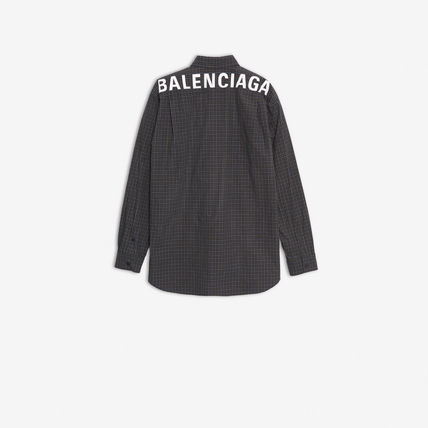 BALENCIAGA Shirts Gingham Long Sleeves Shirts 4
