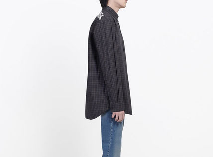 BALENCIAGA Shirts Gingham Long Sleeves Shirts 5