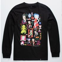 HUF Crew Neck Street Style Collaboration Long Sleeves Cotton