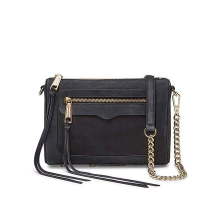 2WAY Chain Plain Leather Party Style Elegant Style Crossbody