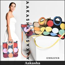 Aakasha Casual Style Plain Leather Clutches
