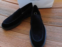 Calvin Klein Wing Tip Straight Tip Plain Toe Loafers Suede Plain U Tips