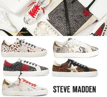 Steve Madden Blended Fabrics Plain Low-Top Sneakers