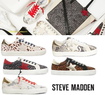 Blended Fabrics Plain Low-Top Sneakers