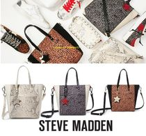 Steve Madden Blended Fabrics Plain Handbags