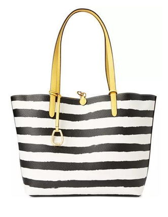 Stripes Casual Style Bag in Bag A4 Party Style Office Style