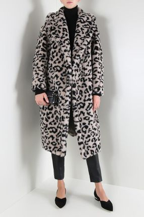 Leopard Patterns Wool Other Animal Patterns Coats