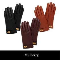 Mulberry Cashmere Plain Leather Leather & Faux Leather Gloves