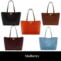 Mulberry Plain Office Style Elegant Style Totes