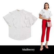 Mulberry Plain Cotton Puff Sleeves Shirts & Blouses