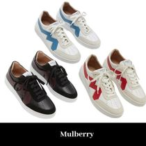 Mulberry Rubber Sole Casual Style Low-Top Sneakers
