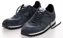 SPALWART Plain Toe Rubber Sole Lace-up Casual Style Leather