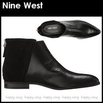 Nine West Casual Style Plain Leather Ankle & Booties Boots