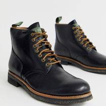 Ralph Lauren Street Style Plain Leather Boots