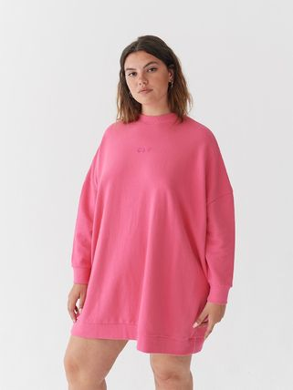 Short Casual Style Sweat Street Style Long Sleeves Plain