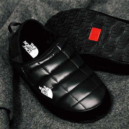 THE NORTH FACE Black Series Casual Style Unisex Street Style Plain Slippers Mules Logo