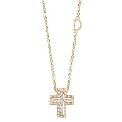 Casual Style Unisex Blended Fabrics Cross Street Style Chain