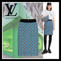 Louis Vuitton Pencil Skirts Monogram Casual Style Wool Skirts