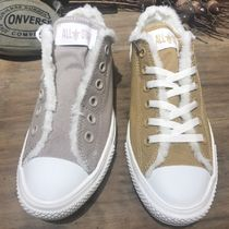 CONVERSE ALL STAR Rubber Sole Casual Style Street Style Plain Shearling Logo