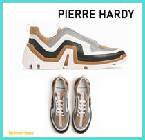 Pierre Hardy Suede Blended Fabrics Street Style Plain Leather Sneakers
