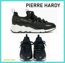 Pierre Hardy Blended Fabrics Street Style Plain Leather Low-Top Sneakers