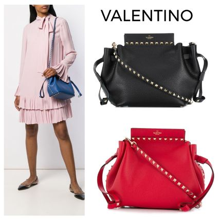 Casual Style Calfskin Street Style Shoulder Bags