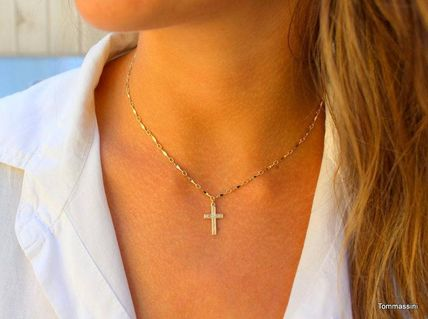 Casual Style Cross Coin Handmade Silver Office Style
